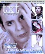 Jade Esteban Estrada on the cover of TXT Newsmagazine