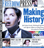 Jade Esteban Estrada on the cover of the Church Street Freedom Press